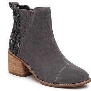 TOMS ESME CHELSEA BOOT SUEDE with Tribal Pattern